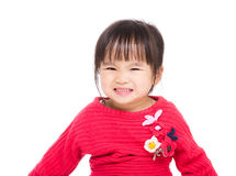 Asian little girl feeling excited royalty free stock photo