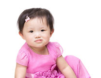 Asian little girl making funny face Royalty Free Stock Photography