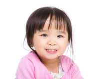 Asian little girl making funny face Stock Photos