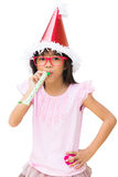 Asian little girl in the new year hat Royalty Free Stock Photo