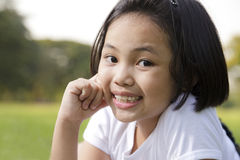 Asian little girl relax and smiling Stock Photos