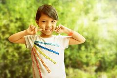 Asian little girl smile expression. Asian little girl smiling expression Royalty Free Stock Photos