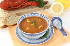 Asian Lobster Bisque Stock Images