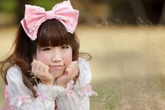 Asian lolita portrait Stock Images