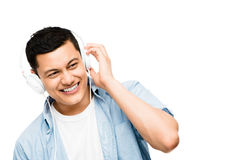 Asian lsitening to music  Stock Images