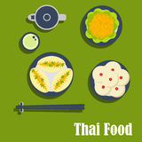 Asian lunch of thai cuisine Royalty Free Stock Photos