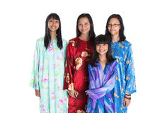 Asian Malay Mother With Daughters I Royalty Free Stock Photography