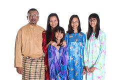 Asian Malay Parents With Daughters II Stock Photo