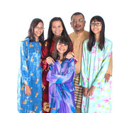 Asian Malay Parents With Daughters III Royalty Free Stock Images