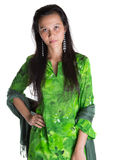 Asian Malay Woman In Green Dress III Stock Images