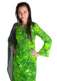 Asian Malay Woman In Green Dress IX Stock Photo