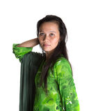 Asian Malay Woman In Green Dress VIII Royalty Free Stock Image