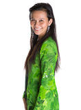 Asian Malay Woman In Green Dress X Royalty Free Stock Photo