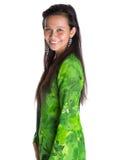 Asian Malay Woman In Green Dress X Royalty Free Stock Photo