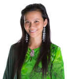 Asian Malay Woman In Green Dress XI Stock Photos