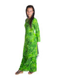 Asian Malay Woman In Green Dress XII Royalty Free Stock Photo