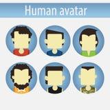 Asian male avatar flat Royalty Free Stock Photo