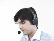 Asian male call centre executive Royalty Free Stock Images