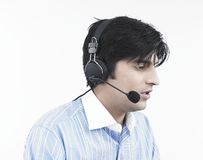 Asian male call centre executive Royalty Free Stock Photo