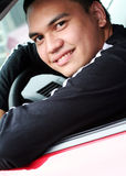 Asian Male in the Car Royalty Free Stock Photos