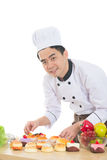 Asian male chef Stock Images