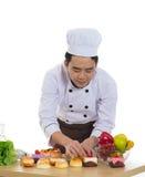 Asian male chef Stock Photo