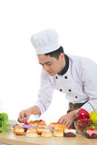 Asian male chef Royalty Free Stock Images