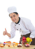 Asian male chef Royalty Free Stock Photography