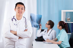 Asian male doctor in the office Stock Photo