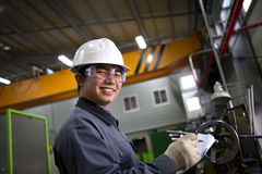 Asian male industrial mechanic Stock Photo
