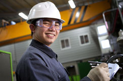 Asian male industrial mechanic Royalty Free Stock Photo