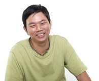 Asian male laughing Stock Photo