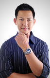 Asian male portrait. Attractive asian male portrait pose Royalty Free Stock Image