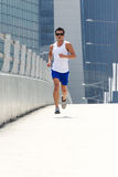 Asian male runner Royalty Free Stock Images