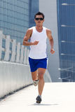 Asian male runner Stock Image