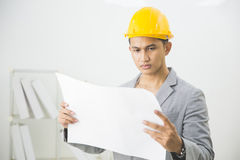 Asian male site contractor Royalty Free Stock Photography