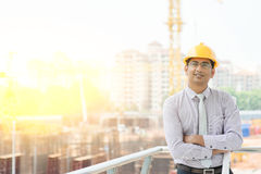 Asian male site contractor engineer Stock Image