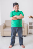 Asian male smiling to camera with armcrossed Stock Photos