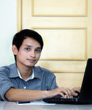 Asian Male students Stock Photo