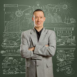 Asian male in suit Stock Image