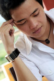 Asian Male Thinking Royalty Free Stock Photography