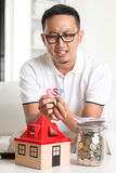 Asian male worried Stock Photo