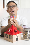 Asian male worried Stock Images