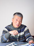 An Asian man Royalty Free Stock Photography