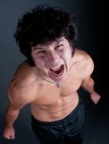 Asian man angry portrait Stock Image