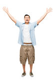 Asian man attractive happy student Royalty Free Stock Photos