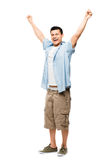 Asian man attractive happy student Royalty Free Stock Photography