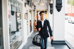 Asian man with bag Stock Image