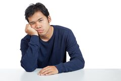 Asian man bored Stock Photography