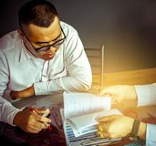 Asian man business consultation royalty free stock photo